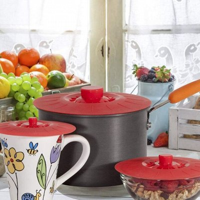 ✌ ОптоFFкa*Всё для кухни и дома и отдыха*✌  — Крышка силиконовая вакуумная — Аксессуары для кухни