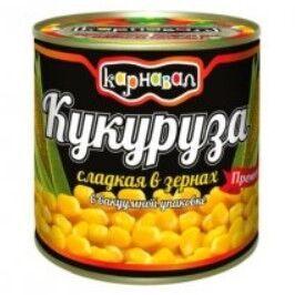 "Кукуруза сладкая в зернах ТМ ""КАРНАВАЛ"", 425 мл., ж/б"
