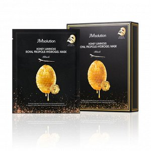 JM Solution Honey Luminous Hydrogel Mask Black Гидрогелевая маска для лица с прополисом, 30гр
