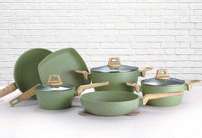 TV-Хиты! 📺 🥞 Все нужное на кухню и в дом!🍩🍕  — Нежная зелень Оливы — Посуда