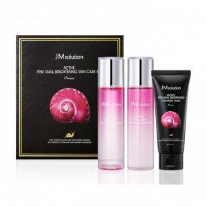 JMsolution Active Pink Snail Brightening Skin Care Set Prime Набор по уходу за лицом, 3 продукта