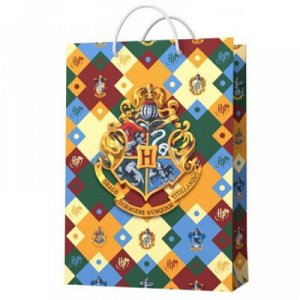 Пакет бум Гарри Поттер герб 23х18см