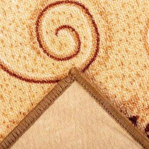 Палас «ПРИМУЛА», размер 200х200 см, цвет бежевый