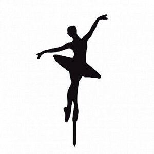 """Топпер силуэт """"Балерина большая"""" черный 10*15 см"""