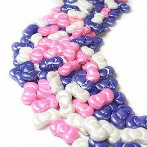 """Посыпка микс """"Бантики белый/розовый/фиолетовый"""", 50 гр"""