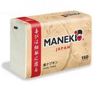 """Салфетки бумажные """"Maneki"""" KABI, 2 слоя, белые, 150 шт./упаковка"""