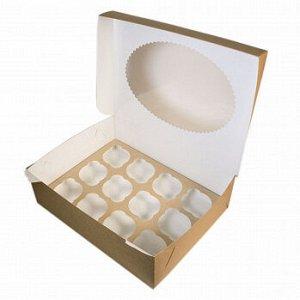 Коробка для капкейков 12 ячеек с окном