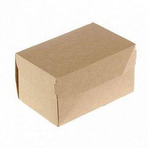 Коробка крафт 15*10*8 с крышкой, 1,2л
