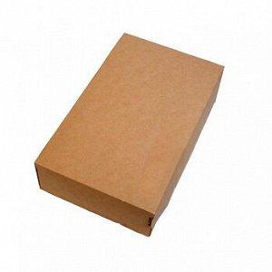 Коробка крафт 23*14*6 с крышкой, 1,9л