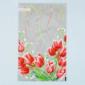 """Пакет для пряников """"Тюльпаны красные"""" 25*40 см"""