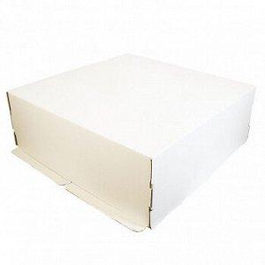 Коробка для торта 42*42*15 см, без окна, самолет