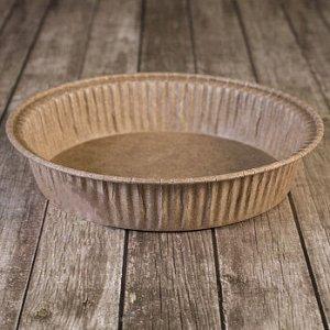 Форма для выпечки Пай 90*20 мм, коричневая, 10 шт