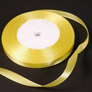 Лента атласная Желтая (15) 10 мм, 30 метров