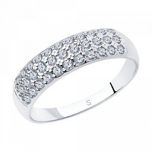 Кольцо Белое Серебро 925