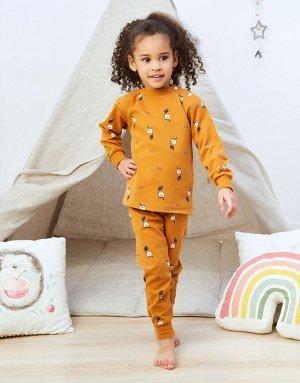 Пижама Оранжевая пижама с мишками  Состав: 100% хлопок