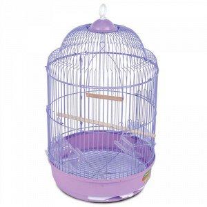 Клетка для птиц №33А (цвет) круглая 33*56,5 TRIOL