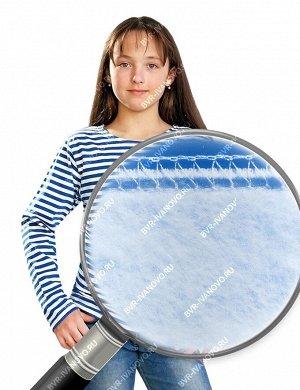 Тельняшка детская тк.Футер 2-х нитка с начёсом Голубая полоса