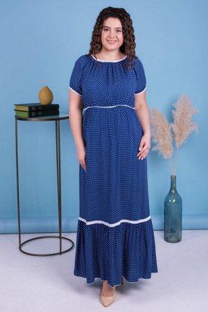 Платье Лето Цвет Тёмно-Синий.