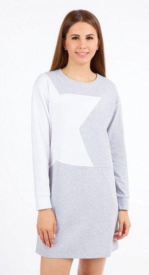 Платье женское  5707/04/Серый, белый