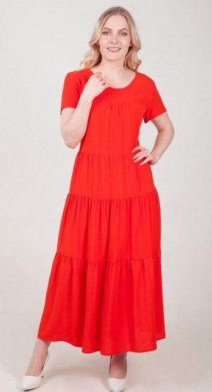 Платье женское  5827/12/Оранжевый