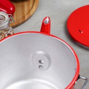 Чайник-котелок с декоративным покрытием 2,5 л, цвет красный