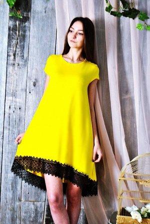 Д466 Платье Камила (желтое)