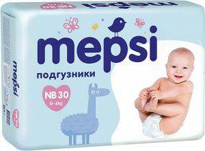 Детские подгузники «MEPSI», NB (до 6кг), 30 шт.