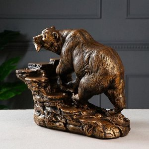 """Мини-бар """"Медведь"""", цвет коричнево-золотой, 32 см"""