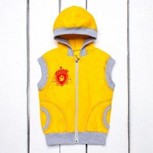 Детский жилет с капюшоном арт.661/1-желтый