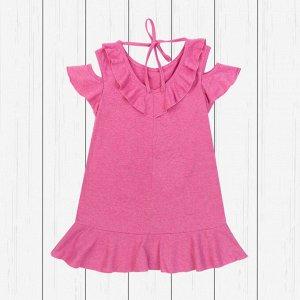 Платье детское с открытым плечом (кулирка)