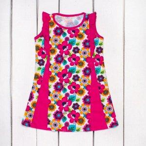 Платье со вставками (кулирка) арт.ПЛ-728