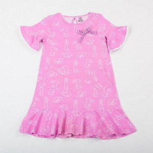 Batik Платье д/д 00084_BAT р.140 принт розовый