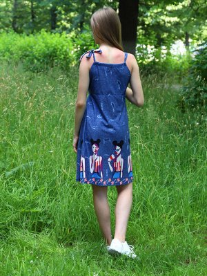 Сарафан Характеристики: 100% хлопок; Материал: кулирка Стильный сарафан, хорошо подойдет для летних прогулок.