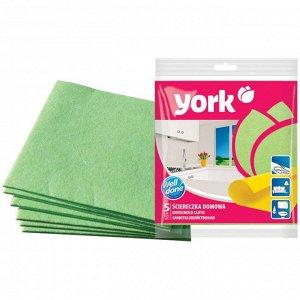 """""""YORK"""" Набор салфеток для уборки 5шт, 35х35см 020020"""