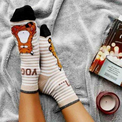 Conte - теплые колготки и уютные носки 🍁   — Носки женские с рисунком, с люрексом, однотонные — Носки
