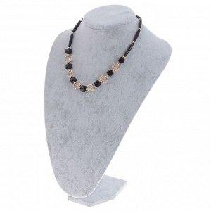 Бюст для украшений, 17*10*23,5 см, h=23,5 см, цвет серый