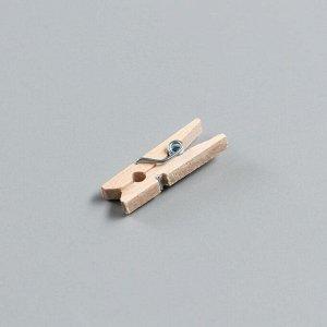 Набор прищепок деревянных, 2,5 см, 25 шт