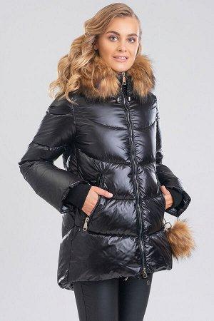 Черный Женские куртки с мехом – это не только модное приобретение, но и залог практичности, комфорта, безукоризненного образа.  Фигурный низ и слегка расклешенные рукава с трикотажными манжетами являю