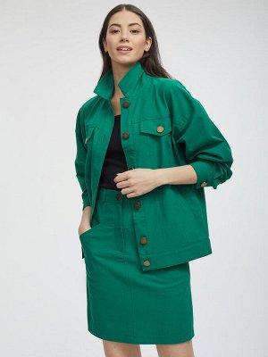 Объемная куртка из денима
