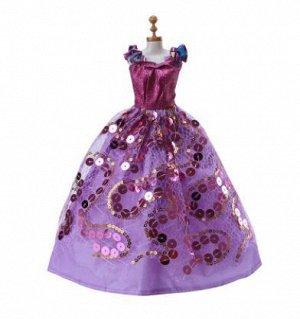 Платье фиолетовое с пайетками