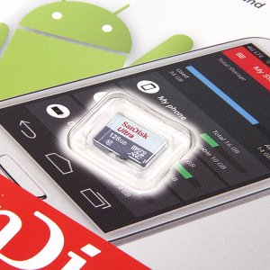 MICRO SD 128Gb SanDisk Class 10 Ultra Android UHS-I  (80 Mb/s) без адаптера SD