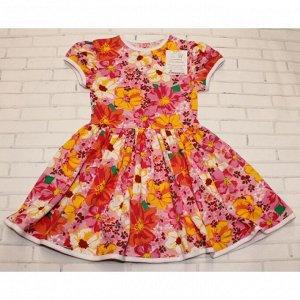 Платье 7028/28 (розовые цветы)