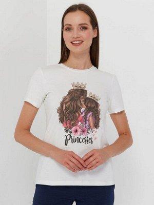 """Футболка с принтом """"Princesses"""" шатенки (Family look)"""
