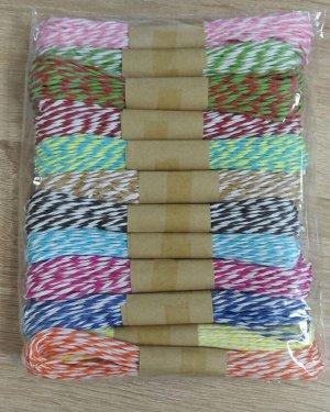 Набор рафии бумажной двухцветной 12 мотков по 5м