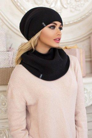 Комплект «Жаклин» (шапка и шарф-хомут)