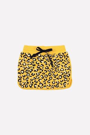 Юбка Цвет: желтый, леопард к271; Вид изделия: Трикотажные изделия; Полотно: Футер-петля; Рисунок: желтый, леопард к271; Сезон: Осень-Зима; Коллекция: №271 Purr Юбка из футера-петли с набивным рисунко