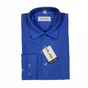 Рубашка для мальчика дл.рукав Platin (синий)