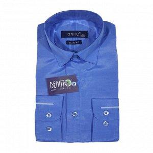 Рубашка для мальчика дл.рукав Benitto (св.синий)