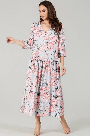 Платье Teffi Style Артикул: L-1496 шиповник