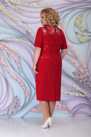 Жакет, платье Ninele 3101 красный
